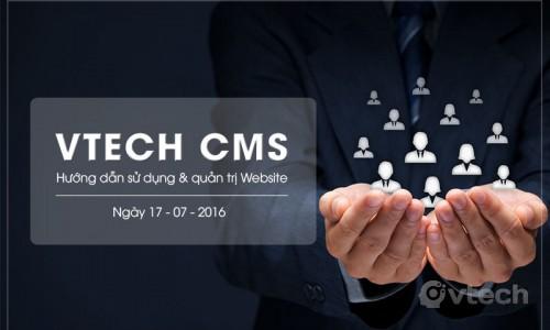 Vtech CMS - Hướng dẫn sử dụng và quản trị Website